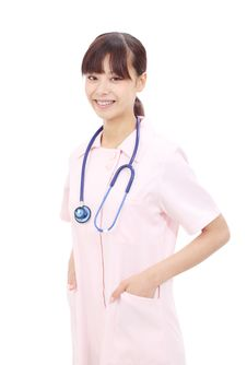 Free Young Asian Female Nurse Stock Photography - 25043392