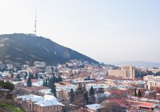 Panoramic View. Tbilisi. Georgia. Stock Photos