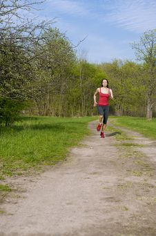 Free Jogging Young Athletic Woman Royalty Free Stock Image - 25044746