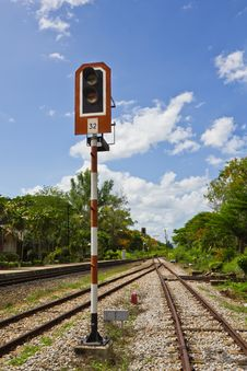 Traffic Light Train Royalty Free Stock Images