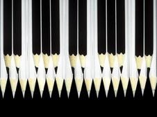 Free Black And White Pencils. Royalty Free Stock Photography - 25045477