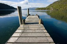 Free Lake Tarawera Pier Royalty Free Stock Photography - 25046097