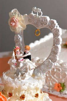 Free Decoration On Wedding Cake Royalty Free Stock Image - 25049586
