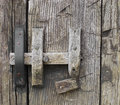 Free Old Rustic Wooden Door Latch. Royalty Free Stock Image - 25051576