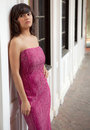 Free Pretty Teen In Gown Downtown Stock Photography - 25055082