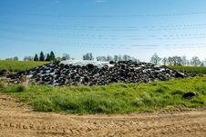 Free Silage By Farmers Using Old Tires As A Burden Stock Image - 25050491