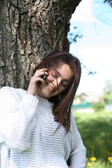 Free Beauty Talking On Phone Stock Image - 25050691