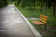 Free An Empty Bench Royalty Free Stock Photos - 25050718