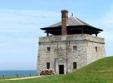 Free Stone Artillery Guard  Tower Of An Old Fort. Stock Photo - 25051580