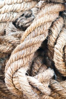 Free Old Rope Stock Photography - 25052962