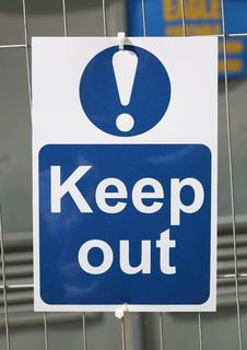Keep Out Royalty Free Stock Photography