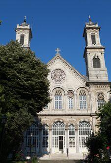 Free Ayia Triada Greek Orthodox Church In Istanbul. Stock Photography - 25054522