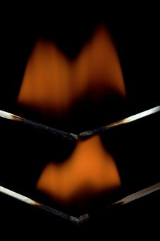 Free Burning Matchstick Royalty Free Stock Images - 25055429