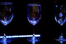 Free Empty Sparkling Glasses Stock Photos - 25056723