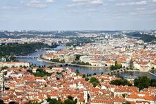 Free Prague Aerial View Royalty Free Stock Photo - 25057035