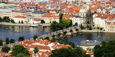 Free Crowded Charles Bridge Stock Image - 25057081