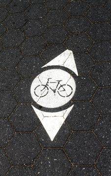 Bicycle Directions Royalty Free Stock Image