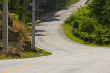 Free Curved Road Stock Photography - 25059442