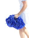 Free Young Cheerleading Girl Violet Colored Pom-pon Royalty Free Stock Photo - 25063805