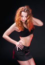 Free Redhead Girl In A Black Bra Royalty Free Stock Photography - 25067097