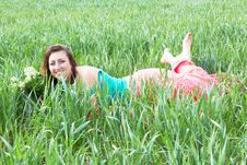 Free Woman In The Field Royalty Free Stock Images - 25060259