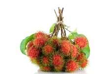 Free A Bunch Of Freshly Picked Rambutan Stock Photos - 25061073