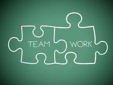 Free Jigsaw Teamwork Royalty Free Stock Image - 25071606