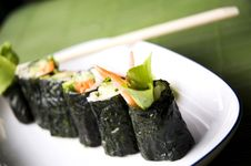Close Up Vegetarian Roll Stock Image