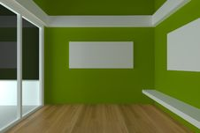 Empty Room Interior Design For Living Room Royalty Free Stock Photography