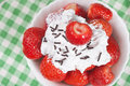Free Strawberries With Cream Stock Photography - 25095112