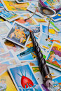 Free Tarot Cards With A Magic Ball And Magic Wand. Royalty Free Stock Image - 25095286