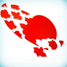 Free Abstract Background With Puzzle Heart. Royalty Free Stock Images - 25090269