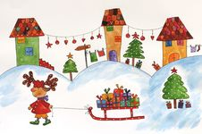 Free Christmas Illustration Stock Photos - 25090573