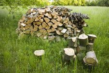 Free Firewood Royalty Free Stock Images - 25091859