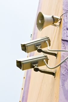 Free Video Camera Security System Royalty Free Stock Photo - 25094095
