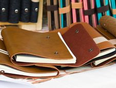 Free Brown Leather Book Cover Royalty Free Stock Images - 25094149