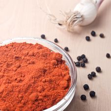 Free Paprika In The Glass Dish Royalty Free Stock Images - 25095049