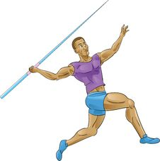 Free Olympics Spear Throwing/Javelin Stock Image - 25095311