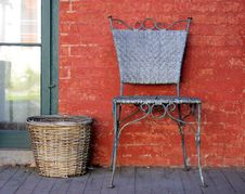 Free Chair And Basket Stock Image - 25099061