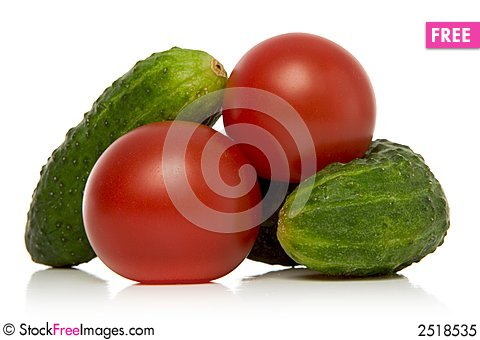 Free Tomatoes And Gherkins Royalty Free Stock Photo - 2518535