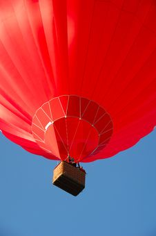 Red Balloon And Basket Royalty Free Stock Images