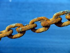 Free Rusty Metal Chain Royalty Free Stock Image - 2510896