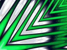 Fractal - Green Arrows Royalty Free Stock Photo