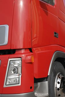 Free Red Truck Detail Royalty Free Stock Photo - 2511345