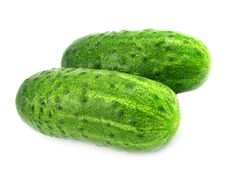 Free Two Fresh Cucumbers. Stock Images - 2511584