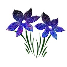 Free Blue Textured Flowers Royalty Free Stock Photography - 2511817