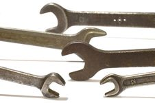 Free Set Of Wrench Royalty Free Stock Photos - 2511838