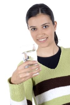 Free Girl With Glass Of Water Stock Photos - 2512383