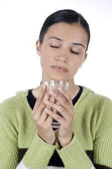 Free Girl With Glass Of Water Stock Image - 2512461