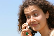 Free Amazed Girl With Cell Phone Stock Images - 2514094